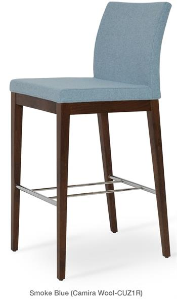 Aria Wood Counter Height Stool Modern Barstool Soho Concept