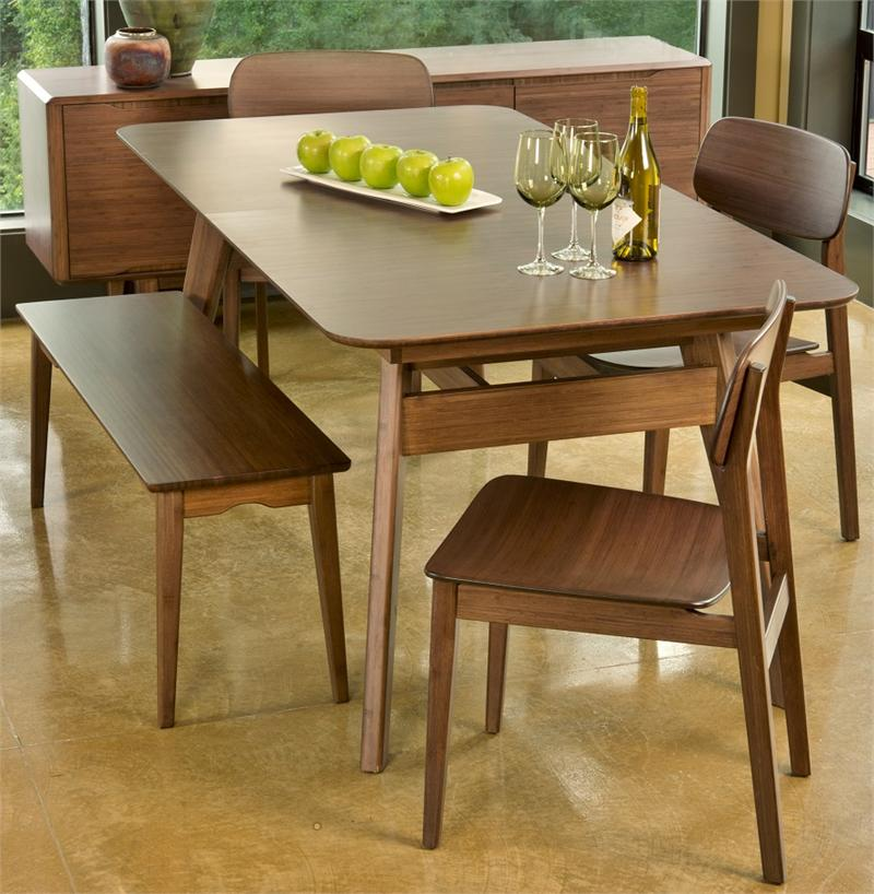 Currant dining table 60 x 36 greenington bamboo for Dining room table 60 x 36