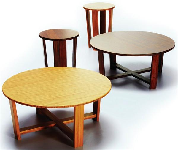 Bamboo Coffee Table Round: Daisy Coffee Table Round Greenington Bamboo Furniture