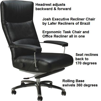 Executive Recliner Chair Josh Lafer Executive Recliner Chair  sc 1 st  Accurato & Recliner Chair Josh Executive Leather Office Chair Recliner Lafer Josh islam-shia.org