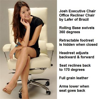 sc 1 st  Accurato & Recliner Chair Josh Executive Leather Office Chair Recliner Lafer Josh islam-shia.org