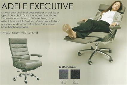 Recliner Adele Executive Recliner Chair Lafer Leather