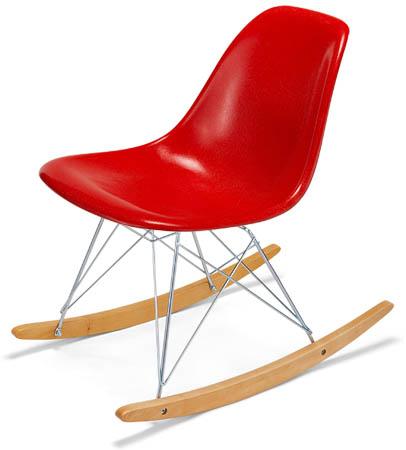 ... Modernica Rocker Side Shell Chair Fiberglass Rocking Chair