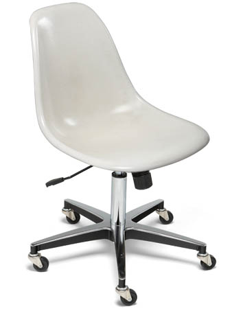 fiberglass shell side chair rolling chair modernica case study - Rolling Chair