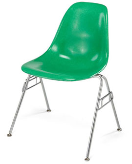 Modernica Case Study Side Shell Stacking Base Fiberglass Shell Chair