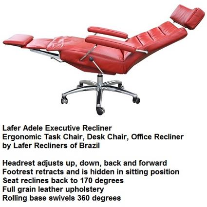 Recliner Adele Executive Recliner Chair Lafer Recliners ...  sc 1 st  Accurato.com & Recliner Adele Executive Recliner Chair Lafer Leather Office Recliner islam-shia.org