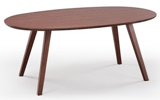 Currant Coffee Table Oval Greenington Bamboo Furniture