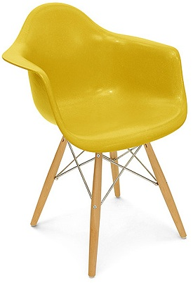 Case Study Arm Shell Dowel Chair Modernica Fiberglass Shell Chair