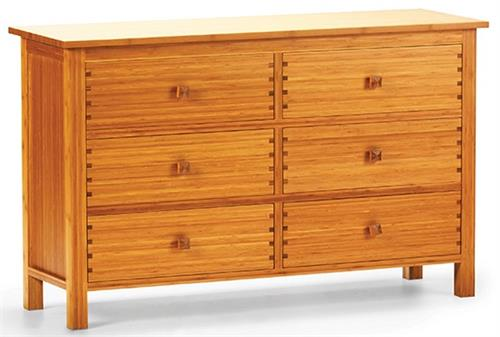 Greenington Bamboo Hosta Six Drawer Dresser Bedroom Furniture