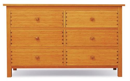 Hosta Six Drawer Dresser Greenington Bamboo Bedroom Furniture