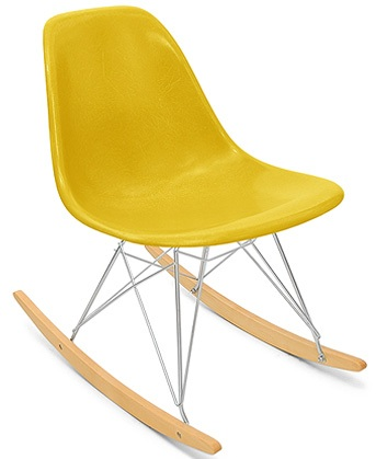 A Case Study Side Shell Rocker Modernica Shell Rocker Chair