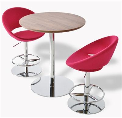 Soho Concept Crescent Piston Swivel Barstool Counter Stool