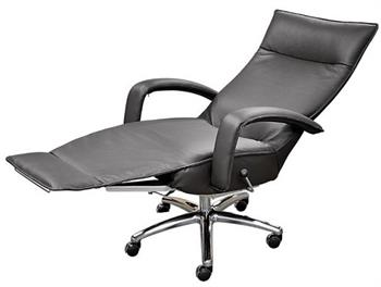 Recliner Executive Chair Lafer Gaga Office Leather Swivel Recliner Chair