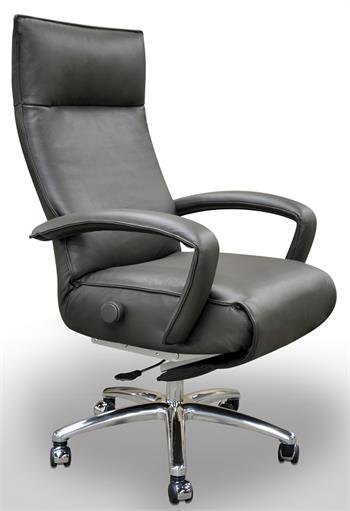 Lafer Gaga Executive Reclining Chair Leather Office Recliner by Lafer