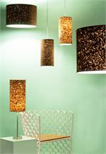 Cork Lamp Shade Medium by Innermost Lamps London