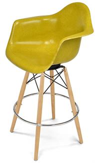 Barstool Modernica Dowel Arm Shell Swivel Stool