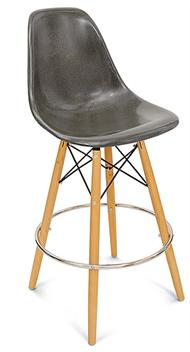 A Dowel Swivel Side Shell Barstool Counter Stool Modernica