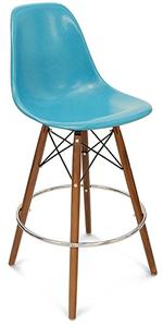 A Barstool Dowel Stool Swivel Base Side Shell Modernica