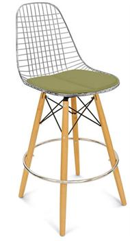 A Dowel Swivel Wire Barstool + Modernica Stool Dowel Counter Wire