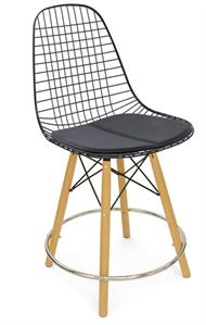 A Dowel Swivel Counter Wire Stool + Dowel Swivel Barstool Modernica