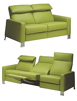 Ergo Three Seat Sofa Ergonomic Leather Recliner Sofa By Lafer Recliners