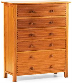Five Drawer Chest Hosta Greenington Bamboo Bedroom Furniture