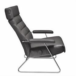 adele recliner chair lafer reclining chair adele - Black Leather Recliner Chair