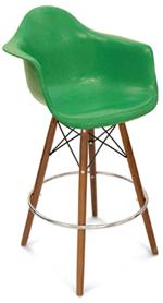 A Counter Stool Dowel Swivel Arm Shell Modernica