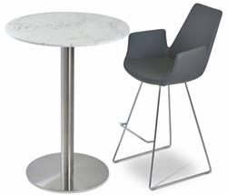 Soho Concept Eiffel Arm Wire Stools Bar Stool Counter Stool