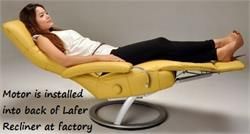 Power Option for the Lafer Recliner Chairs by Lafer Furniture of Brazil