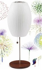 Nelson Cigar Table Lamp Lotus Base Nelson Bubble Table Lamp