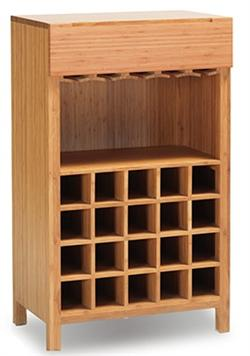 Greenington Orchid Wine Cabinet Bamboo Furniture Wine Storage