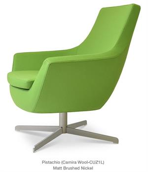Soho Concept Rebecca Armchair 4 Star Base Lounge Chair