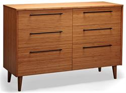 Greenington Bamboo Sienna Six Drawer Dresser Bamboo Dresser