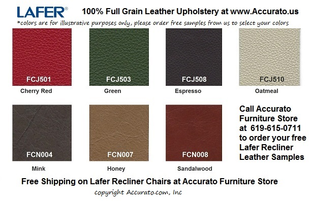 Lafer Recliner Leather Color Samples www.Accurato.us