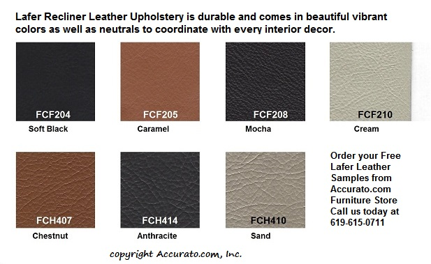 Lafer Recliner Leather Samples www.Accurato.us