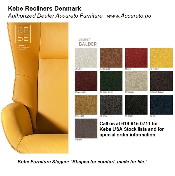 Kebe Recliner Leather Samples Fabric Upholstery Samples