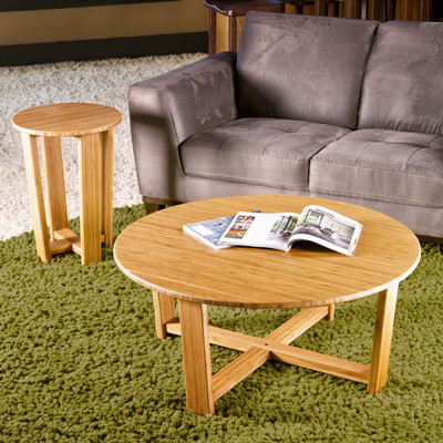bamboo living room set.  Daisy End Table Round Greenington Bamboo Living Room Furniture