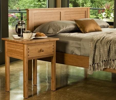 Bed hosta platform bed greenington bamboo bedroom furniture for Bamboo bedroom furniture