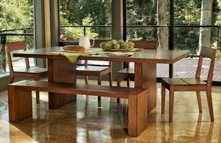 Bamboo Kitchen Table Dining table hazel greenington bamboo dining room table workwithnaturefo