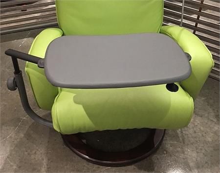 Lafer Recliner Laptop Table Grey Leather Top Workstation Lafer Recliner  Chairs