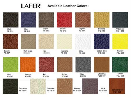 Set Of Free Leather Samples For Lafer Recliner Chairs Up