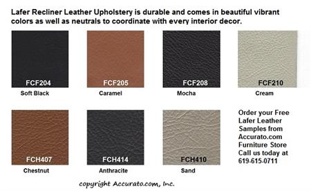 A Set Of Free Leather Samples For Lafer Recliner Chairs