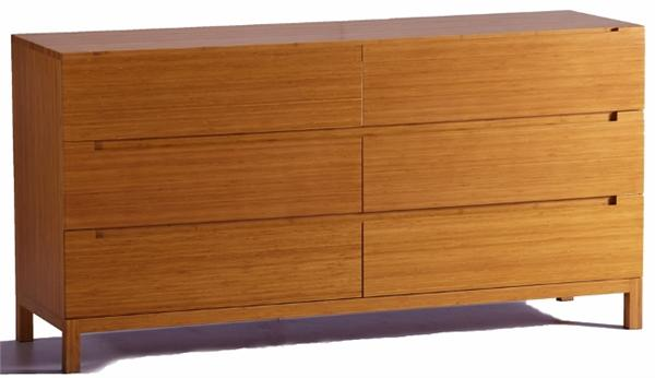 Greenington Orchid Six Drawer Dresser Bamboo Bedroom Furniture