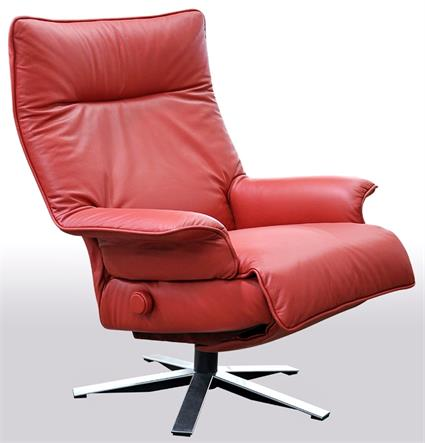 Lafer Valentina Recliner Chair Leather Luxury Lafer Swivel Recliner