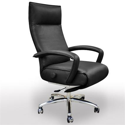 Recliner Executive Chair Lafer Gaga Office Leather Swivel
