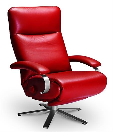 A Carrie Recliner Chair Lafer Carrie Leather Recliner