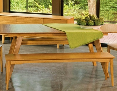 Currant Long Bench Greenington Bamboo Dining Room Furniture