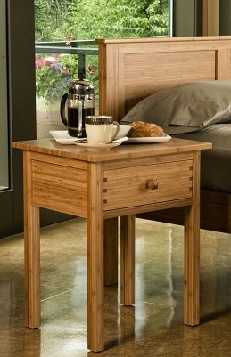 Greenington Bamboo Hosta Night Stand bedide Table End Table