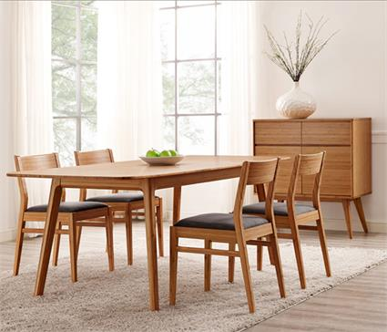 Laurel Dining Table Extendable Greenington Bamboo Dining Table